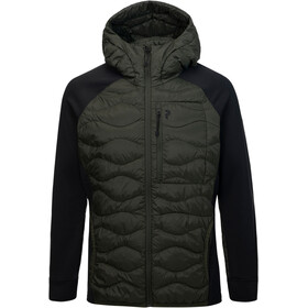 Peak Performance Helium Hybrid Down Hood Jacket Men olive